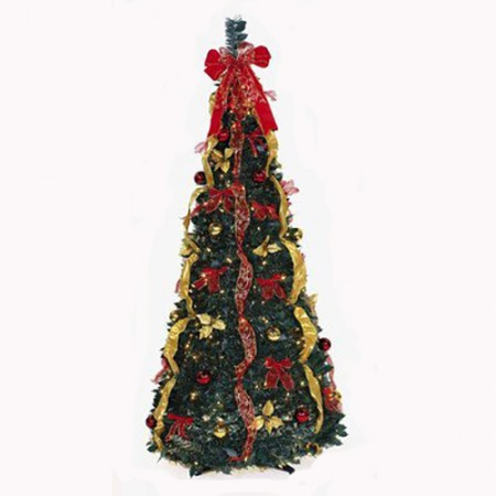 flat to fabulous fully decorated pre lit 6ft christmas tree - Fully Decorated Christmas Tree