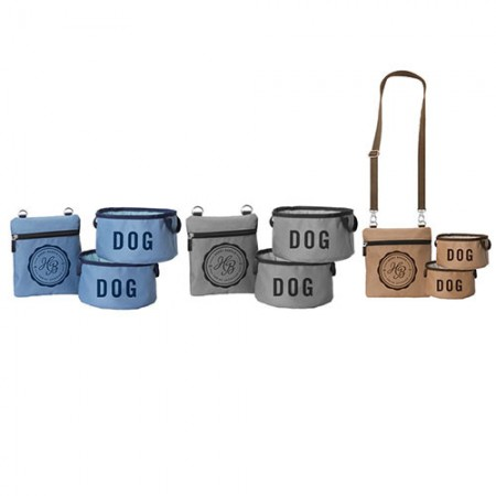 Fold Up Dog Bowls and Carry Pouch