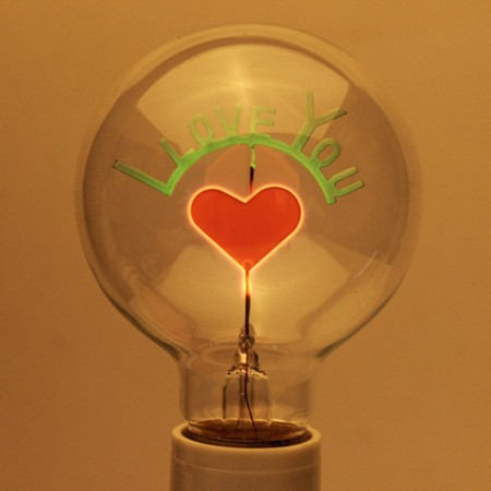 I Love You Edison Light Bulb