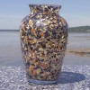 Large Seashell Inlaid Bud Vase – Mussel, Lobster & Clam Shell