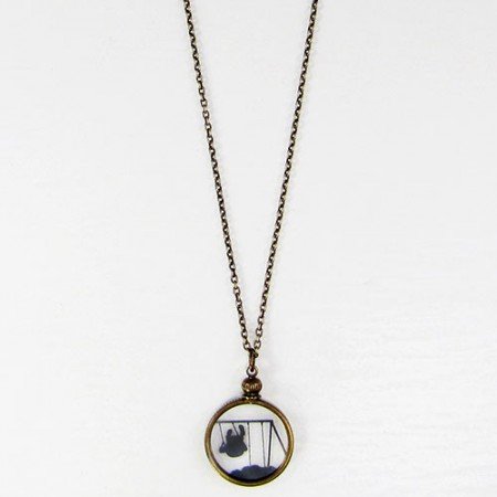 Swing Set Silhouette Necklace