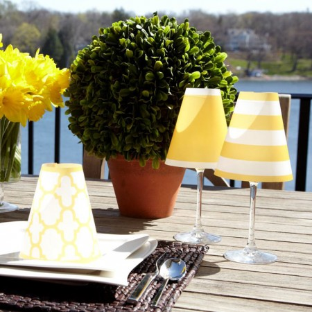 Nantucket Golden Yellow Wine Glass Shades