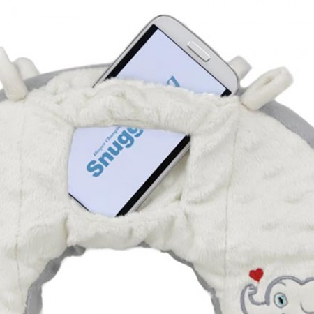 Snuggwugg Plush Interactive Baby Pillow Azure Ocean Dreams